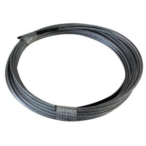 3 / 32 X 120 7X7 Galvanized Aircraft Cable Cut & Coiled PR / Black