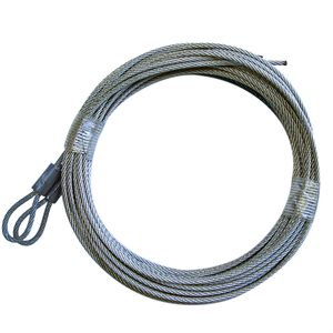 3 / 32 X 168 7X7 GAC Garage Door Plain Loop Extension Lift Cables - Gray