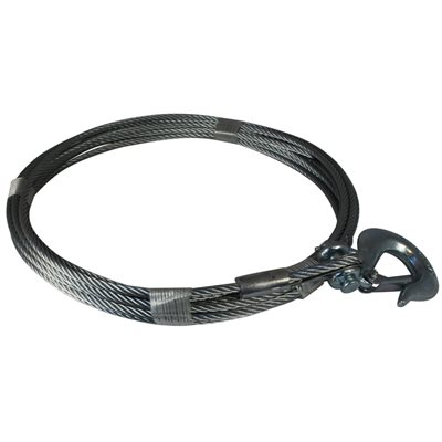 3 / 16 X 50 FT Winch Cable with Hook