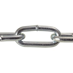 2 / 0 X 100 FT Straight Link Coil Chain Zinc Plated
