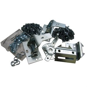 Lock Component Bag with Chain for 16 Door, Double Spring Latch