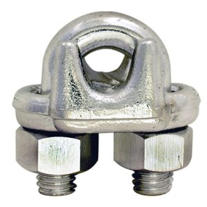3 / 4 Type 316 Stainless Steel Forged Wire Rope Clip