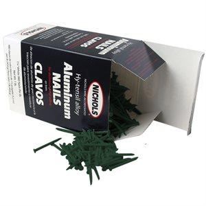 """Green Trim Nails, 1-1 / 4"""" Aluminum Alloy, 1 Lb"""