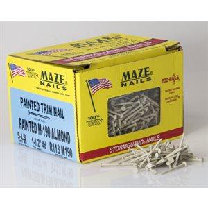 """Almond Maze 1-1 / 2"""" SmoothTrim Nail-5 Lb Ctn"""