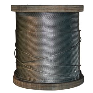 3 / 8 X 5000 FT 1X7 EHS Galvanized Guy Strand