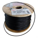 3 / 32 X 1000 FT, 7X19 Black Galvanized Aircraft Cable