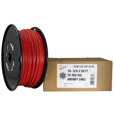 1//16 Coated to 3//32 Diameter 50 ft Coil 2500 Ft 500 7x7 Construction 100 250 1000 Green Vinyl Coated Cable: 50