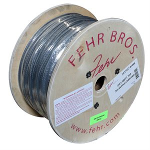 3 / 16 X 1000 FT, 7X19 Zinc-Aluminum Coated Cable