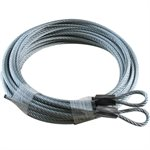 1 / 8 X 156 7X19 GAC Garage Door Plain Loop Extension Lift Cables - Gray