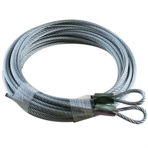 1 / 8 X 168 7X19 GAC Garage Door Plain Loop Extension Lift Cables - Green