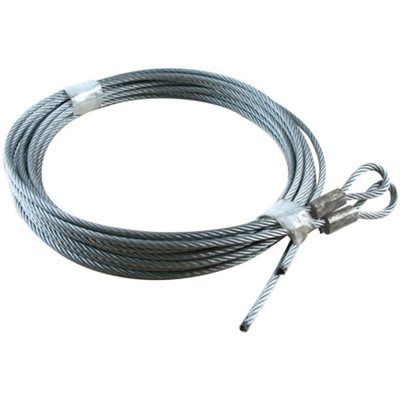 5 / 32 X 144 7X19 GAC Garage Door Plain Loop Extension Lift Cables