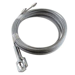"""1 / 8 X 102"""" 7X7 GAC Garage Door Torsion Lift Cables with CC-1 Clip"""