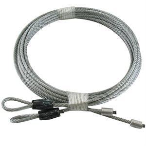 1 / 8 X 102 7X7 GAC Garage Door Torsion Lift Cables - Black