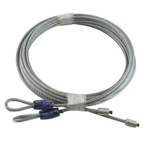 1 / 8 X 114 7X7 GAC Garage Door Torsion Lift Cables - Blue
