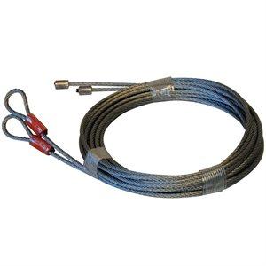 1 / 8 X 162 7X7 GAC Garage Door Torsion Lift Cables - Orange