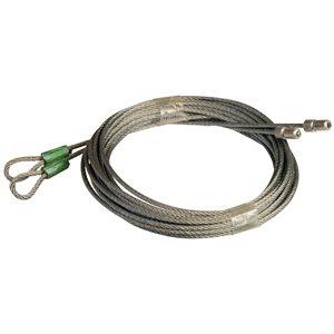 1 / 8 X 128 7X7 GAC Garage Door Torsion Lift Cables, Floating Stop - Green