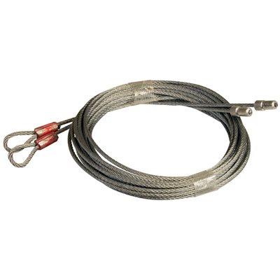 1 / 8 X 140 7X7 GAC Garage Door Torsion Lift Cables, Floating Stop - Orange