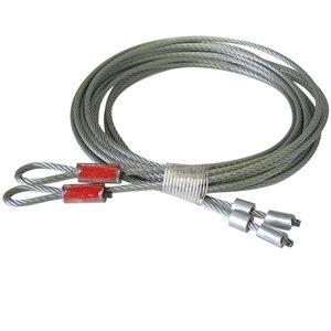 1 / 8 X 102 7X19 GAC Garage Door Torsion Lift Cables, Floating Stop - Red