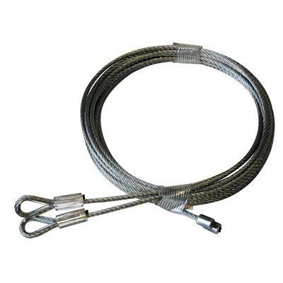 1 / 8 X 114 7X19 GAC Garage Door Thimbled Torsion Lift Cables - White