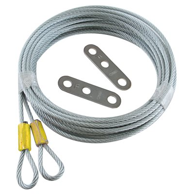 1 / 8 X 156 7X7 Extension Spring Retension Cables with Adjusting Clips -Yellow