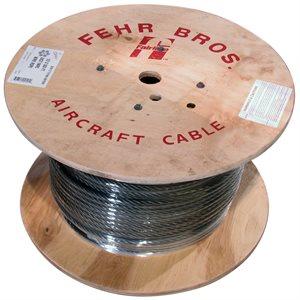3 / 16 X 500 FT 6X19 Fiber Core Bright Wire Rope