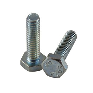 1 / 4-20 X 1 Hex Head Tap Bolt, Full Thread Zinc Plated X 1000 Pcs