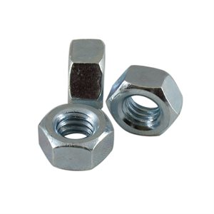 5 / 16-18 Finished Hex Nut Zinc Plated, 1 / 2 Across Flats X 1000 Pcs