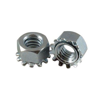 5 / 16-18 Hex Kep Lock Nuts, 1 / 2 Across Flats X 1000 Pcs