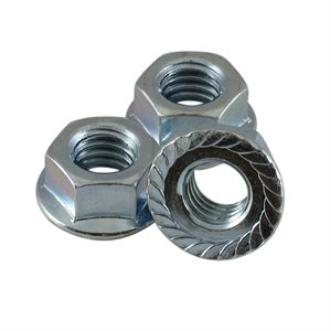 3 / 8-16 Serrated Flange Nuts, 9 / 16 Across Flats X 1000 Pcs