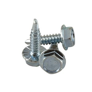 1 / 4-14 X 1 Hex Serrated Washer Head Drill-Tap Screw, 7 / 16 Across Flats X 2500 Pcs