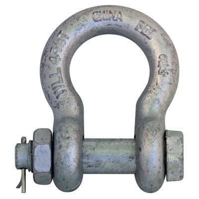 3 / 4 Galvanized Safety Shackle with Nut & Pin