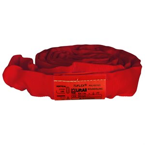 EN150 X 3 FT Red Tuflex Polyester Roundsling