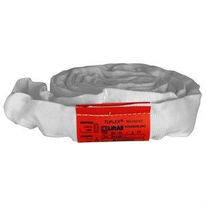 EN180 X 3 FT White Tuflex Polyester Roundsling