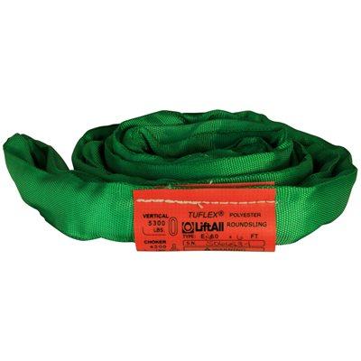 EN60 X 10 FT Green Tuflex Polyester Roundsling