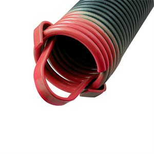 350 LB Extension Spring with Clip Ends - Red