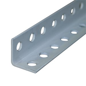 "1-1 / 4 X 1-1 / 4 X 8'3"" EHS 12 Gauge PC Perforated Angle- White"