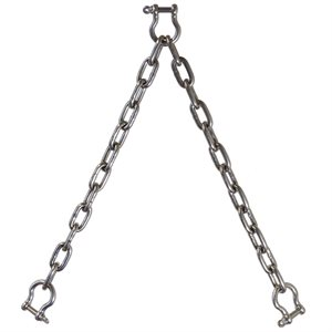 "Double Leg Chain Bridle T316 1"" X 2'"