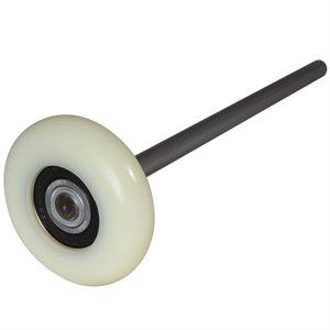 """3"""" Sealed Precision Bearing Nylon Garage Door Roller, 9"""" Type 304 SS Stem"""