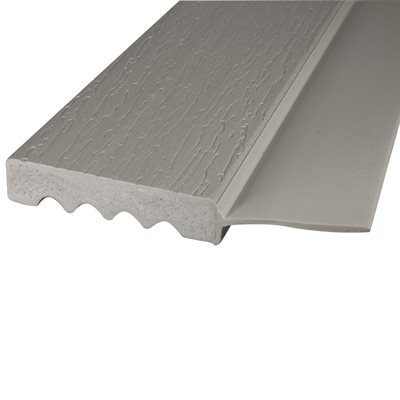 "Gray (P509), #2213-Side Flap , 8 FT x 2"", Vinyl Stop"
