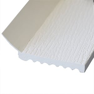 "#2591 18 FT White 3-1 / 4"" Wide, 1 / 2"" Thick Vinyl Door Stop (P78) X 10 Pcs"