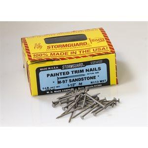 "Sandstone Maze 1-1 / 2"" SmoothTrim Nail-1 Lb Ctn"