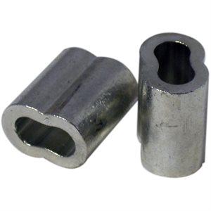 1 / 4 X 100 Pcs Zinc Plated Copper Sleeves